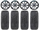 Bundle - 9 Items: MSA Lok 14'' ATV Wheels 30'' Regulator Tires [4x110 Bolt Pattern 10mmx1.25 Lug Kit]