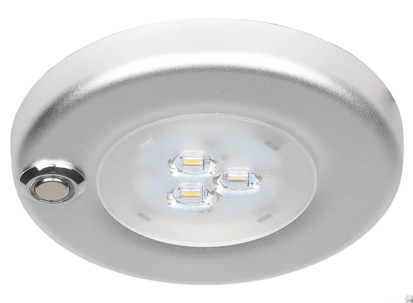 Facon 12V 3W 4inch LED montage en surface avec interrupteur marche / arrê t Dimmable pour RV / bateau / remorque / caravane / camping-car (commutateur tactile) Genesis Lighting Co. Ltd.