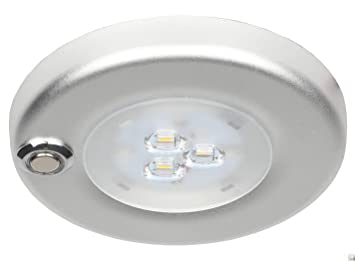 Facon 12V LED Panel Light Ceiling Wall Dome Light Interior Light with On//Off Dimmer and Indicator for RV Cool White Pack of 1 Campervan,Caravan,Boat,Trailer,Marine Motorhome