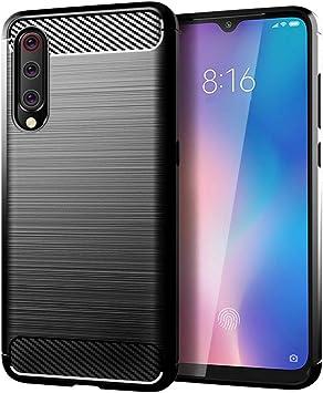 SDTEK Funda para Xiaomi Mi 9 Lite [Fibra de Carbon TPU] Case Bumper Cover Suave Silicona para Xiaomi Mi 9 Lite (Negro): Amazon.es: Electrónica