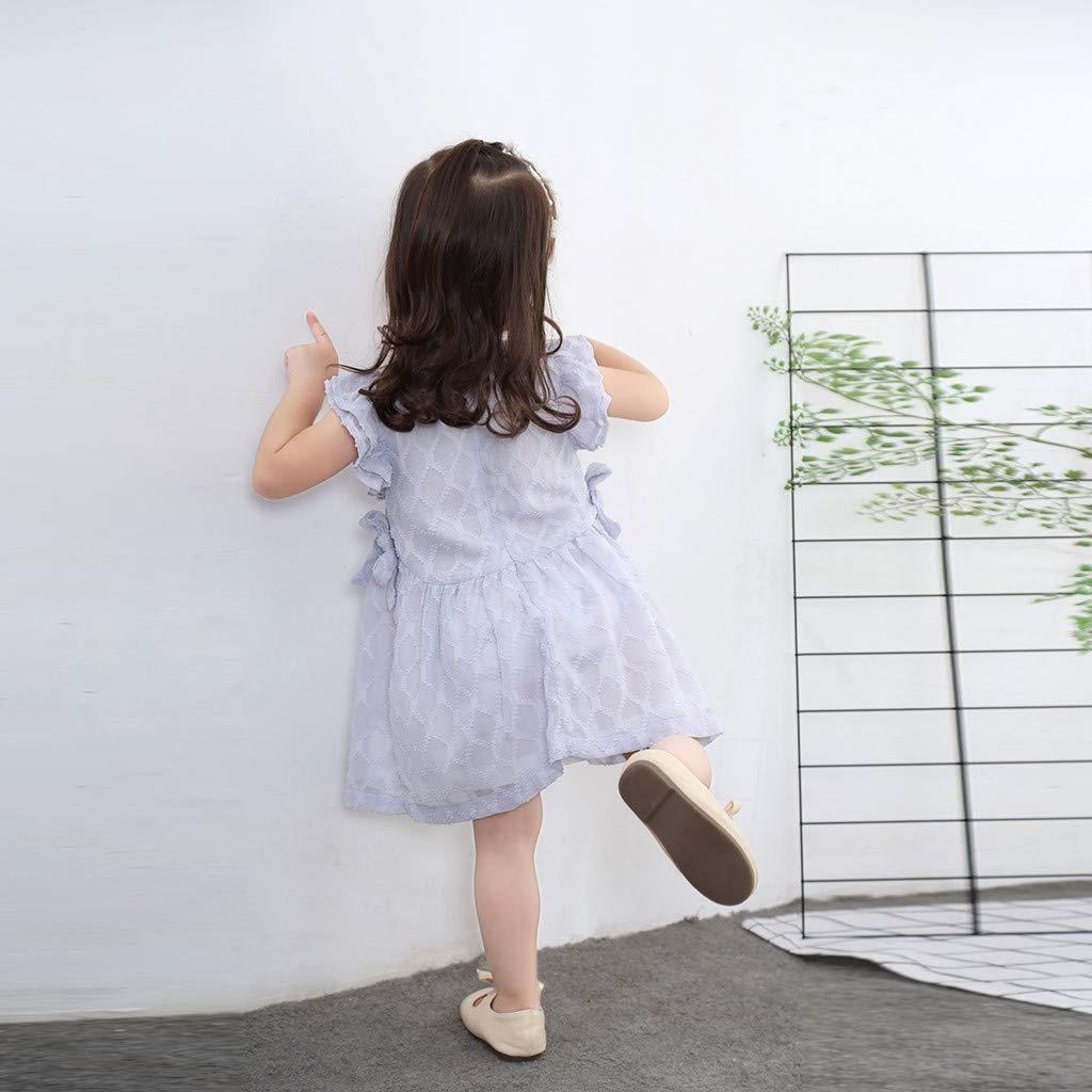 Cinnamou Ropa para Babes Vestido de Gasa Manga de Cuerno Vestidos para Niñas: Amazon.es: Ropa y accesorios