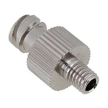 cnbtr plata Industrial dispensador de pegamento accesorios aguja de rosca M6 Metal Aguja adaptador para dispensador de jeringa: Amazon.es: Hogar
