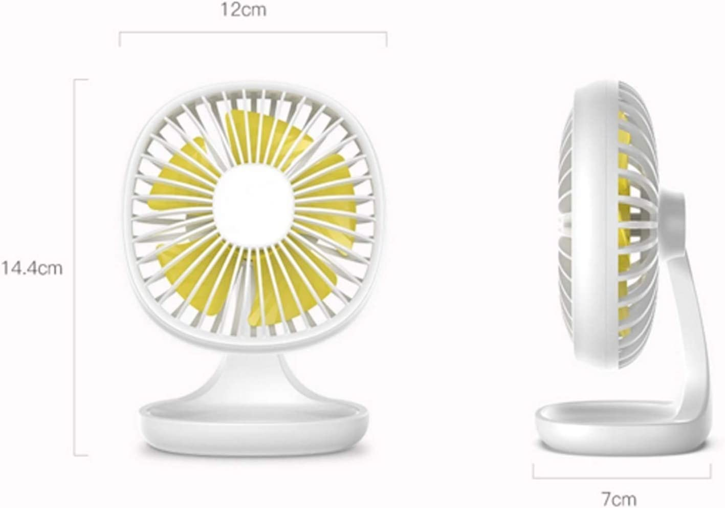 Air Cooler Portable USB Fan 3 Speed Mini Fan Office Desktop Electric Small Fan Summer Cooler Air Cooling Fan Item Storage Color : White