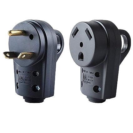 30 Amp Rv Plug >> Wadoy 30 Amp Rv Plug Male And Female Plug Set 55245 Receptacle Plug