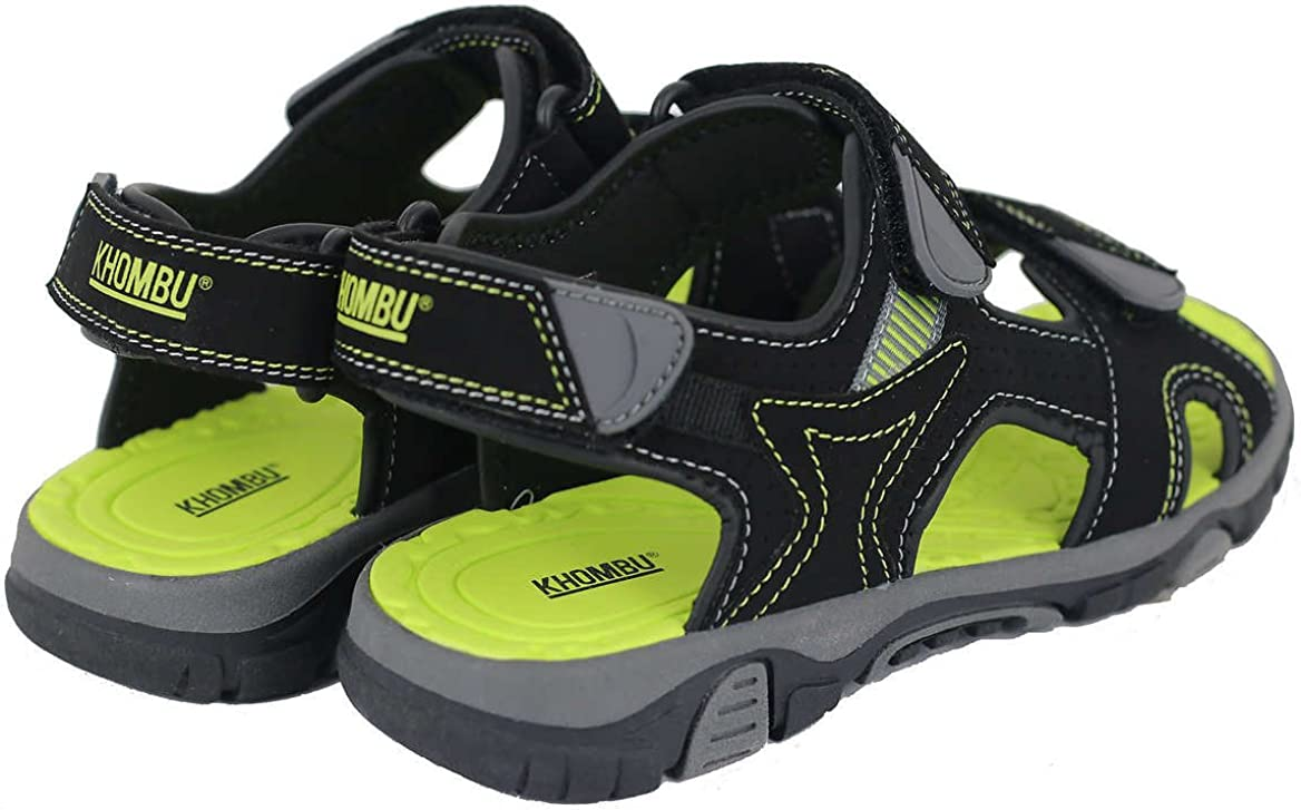 Khombu Boys River Sandal Black//Neon Size 4 M US