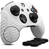 Xbox One/Xbox One S/Xbox One X Controller Silicone Skin Case Anti-Slip Protective Grip Cover for Xbox 1 with 8 x Thumb Stick Grip Caps