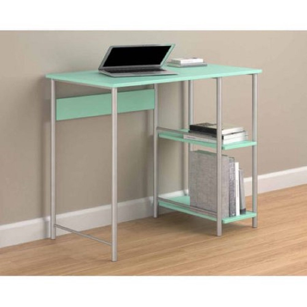 basic office desk. Amazon.com: Affordable Mainstays Basic Student Space-Saver Desk (Spearmint): Kitchen \u0026 Dining Office A