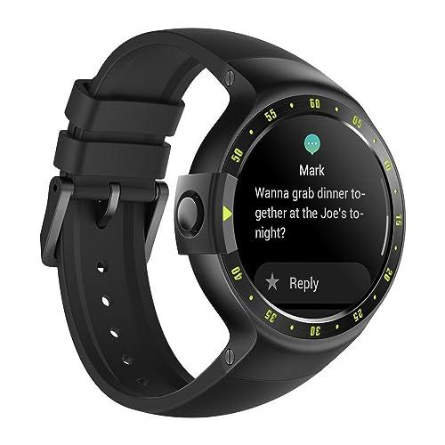 Ticwatch Reloj Inteligente Smart Watch Pantalla Táctil de OLED 1.4 Pulgada Compatible con iOS y Android