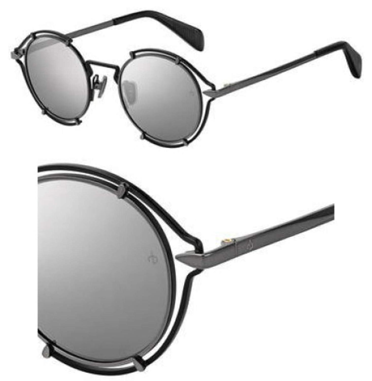 T4 silver mirror Sunglasses Rag and Bone Rnb 1024 //S 0ANS Black Dark Ruthenium