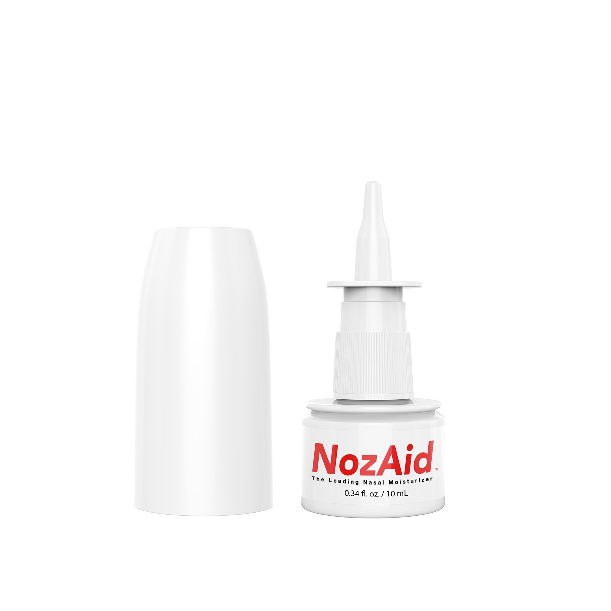 Nasal Spray Moisturizer with Sesame Oil .34 Ounce - Moisturizing Lubricant for Dry, Crusty, Cracked, Stuffy Nose Relief, Nosebleeds, Clear Breathing - Fragrance and Preservative Free by NozAid