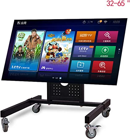 Xue-shelf Caja de laminación de Soportes para televisores, Carro móvil de la TV con Pantalla de Plasma 32-65Inch Ruedas del Carro LED LCD Monitor Baja Altura de la Base de la Compra: