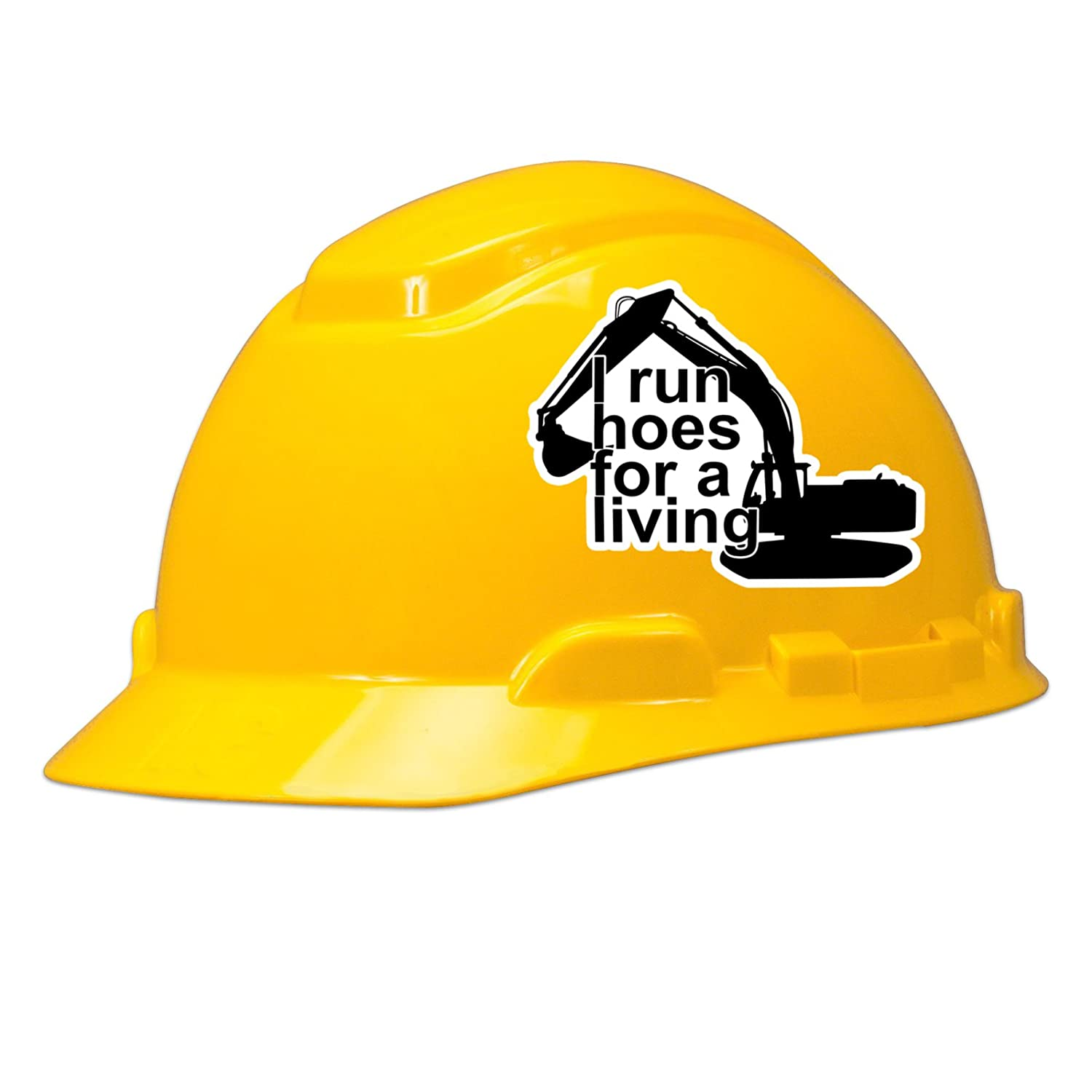 I run hoes for a living hard hat helmet sticker set of 3 stickers amazon com