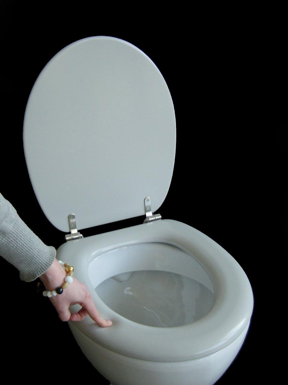 Erstaunlich Polsi Soft WC Sitz gepolstert Farbe manhattan grau mit  DI01