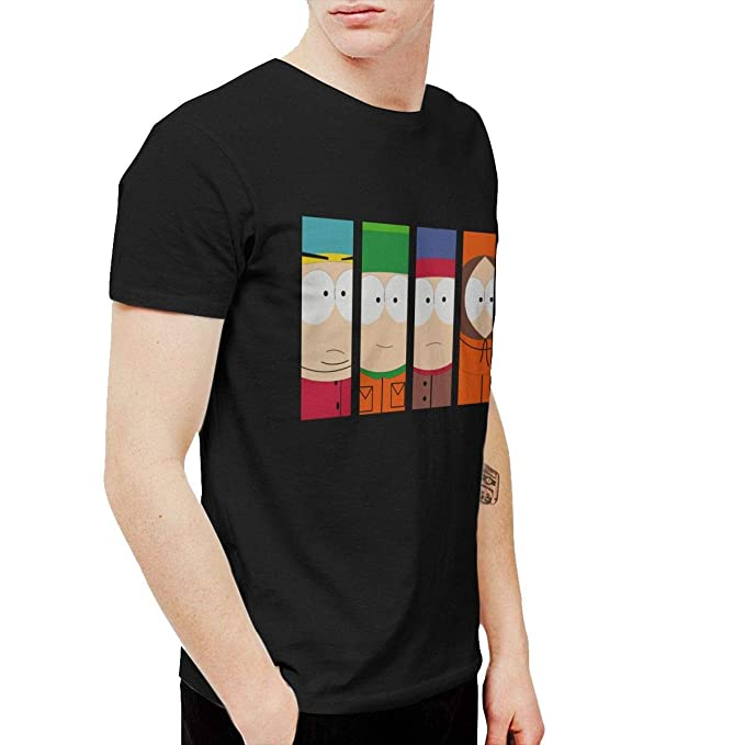 2fae0a659 Amazon.com  Trikahan Men s South Park T-Shirts Black  Clothing