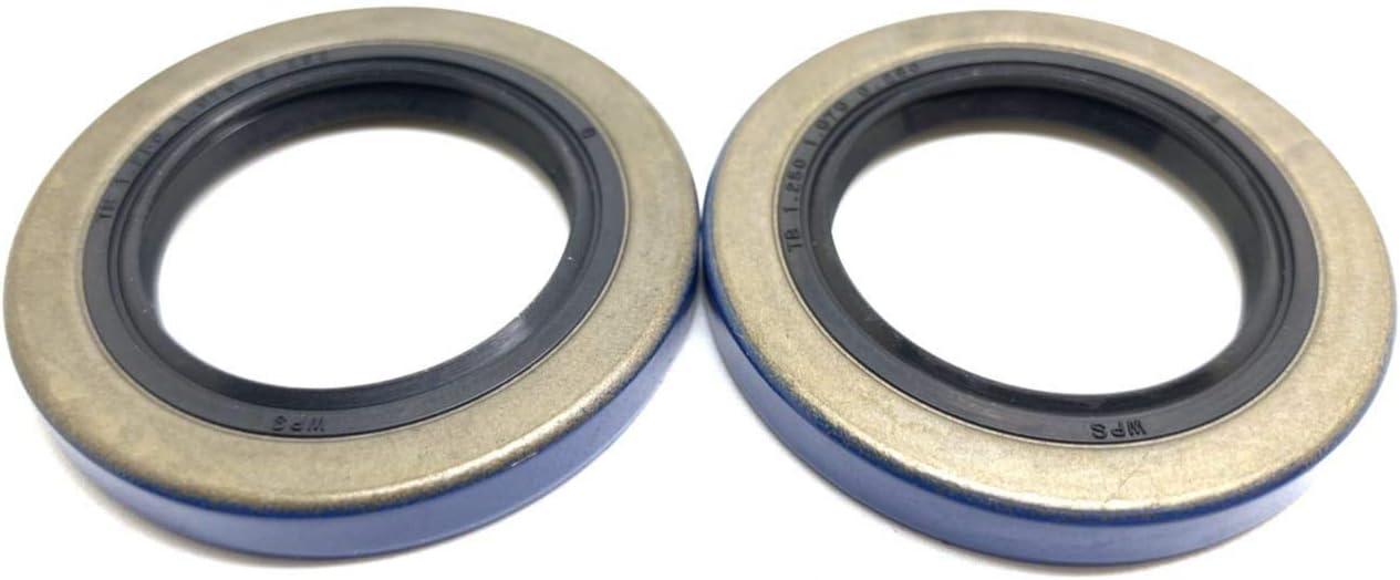 WPS (Pack of 2) Trailer Axle Hub Wheel Grease Seal 12192TB, 2000-2200# Double Lip 1.249'' X 1.983''