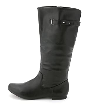 Style & Co. Women's Mabbel Knee-High Fashion Boots, Black Smooth, Size 5.0 US
