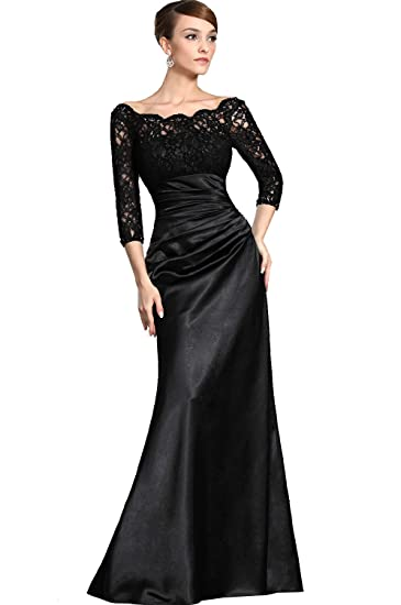 7a947c69115a Amazon.com: eDressit Women's Clearance Black Lace Sleeves Mother of the  Bride Dress Evening Dress: Clothing