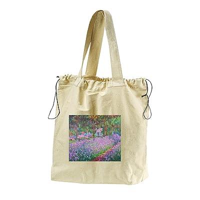 0579957d8bcd Artists Garden (Monet) Canvas Drawstring Beach Tote Bag high-quality ...