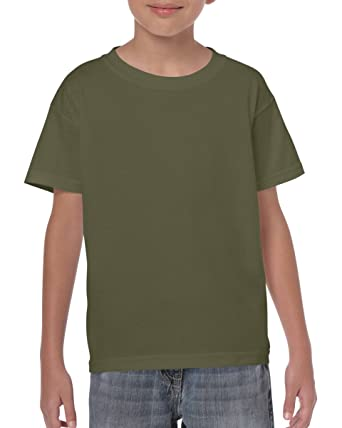 36a1c158866 Olive Army Green Boys Girls Childrens Kids Unisex Plain T-Shirt Tee Shirt  100% Cotton School P.e. Ages 1 2 3 4 5 6 7 8 9 10 11 12 13 14 15 (Bulk  Orders ...