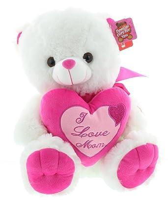 I love you mom teddy bear at amazon mens clothing store i love you mom teddy bear altavistaventures Choice Image