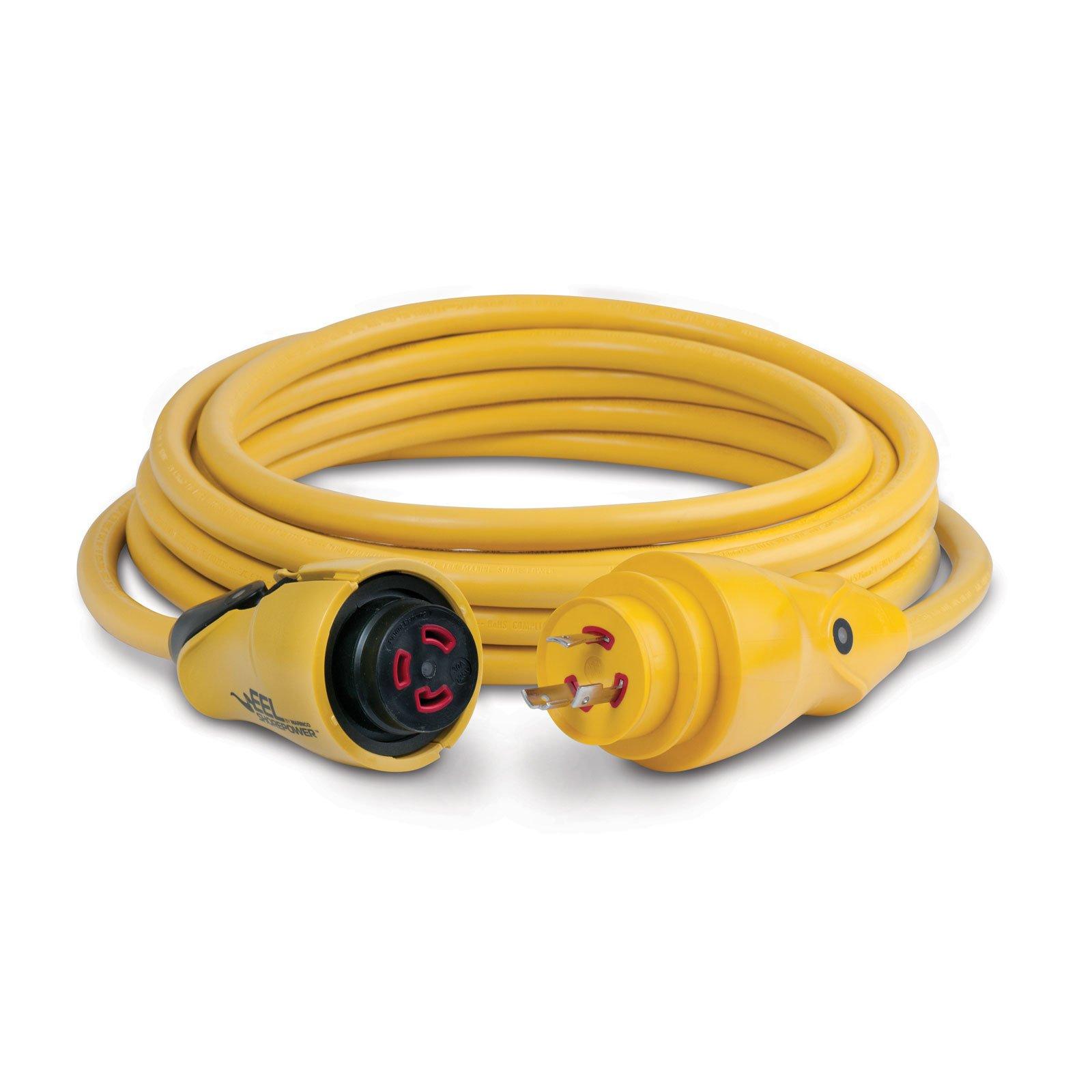 Marinco EEL 30-Amp 125-Volt Cord Set, Yellow, 25-Feet by Marinco
