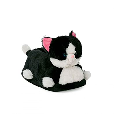 9f4cf250816f9 Funslippers Chaussons Peluche Animaux Fantaisie Taille 39-41 Chat, Chaton,  Noir, Premium