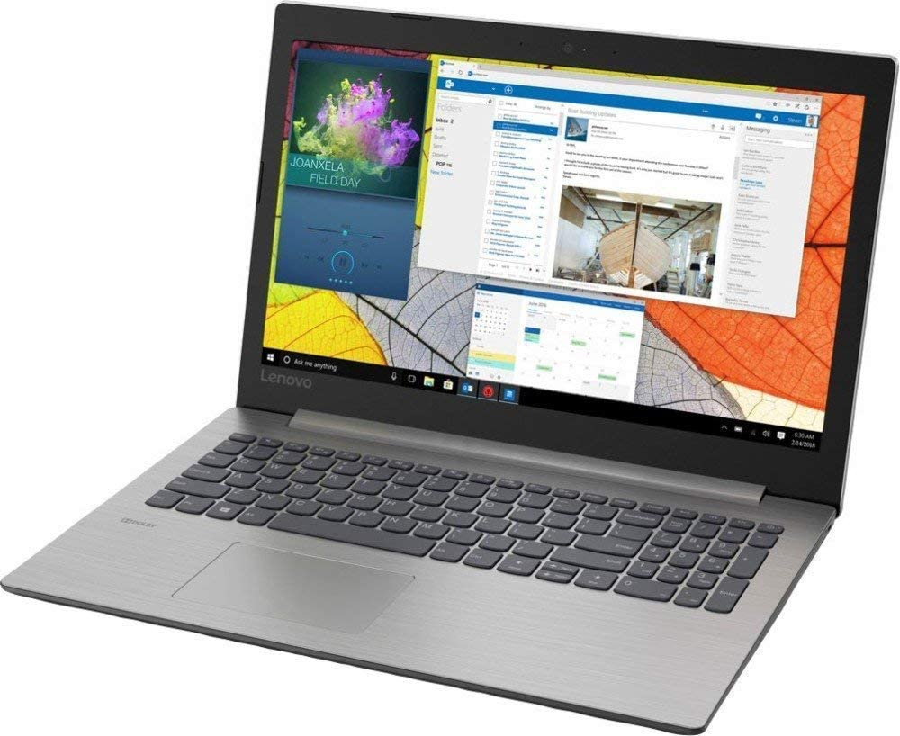 "2019 Newest Lenovo Ideapad 330 15.6"" HD Anti-Glare Laptop, Intel Quad-Core Celeron N4100(up to 2.40 GHz), 8GB RAM 256GB SSD DVDRW 802.11ac HDMI Bluetooth Webcam Windows 10 Gray"