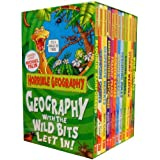 Horrible Geography Collection 12 Books Box Gift Set (Wild Islands, Violent Volacanoes, Stormy Weather, Raging Rivers, Perishing Poles, Odious Oceans, Monster Lakes, Freaky Peaks, Earth-shattering Earthquakes, Desperate Deserts, Cracking Coasts, etc)