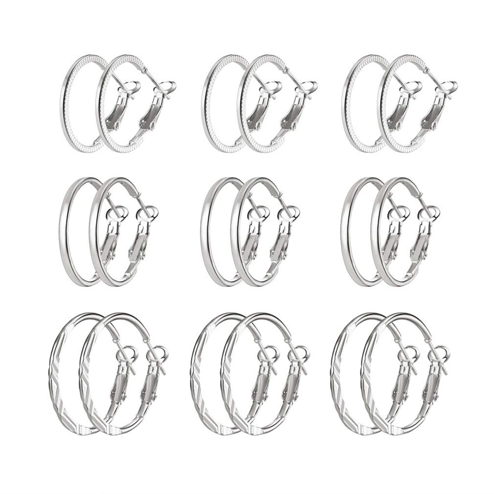 Simple Hoop Earring Set 9-Piece ONLY $2 Shipped