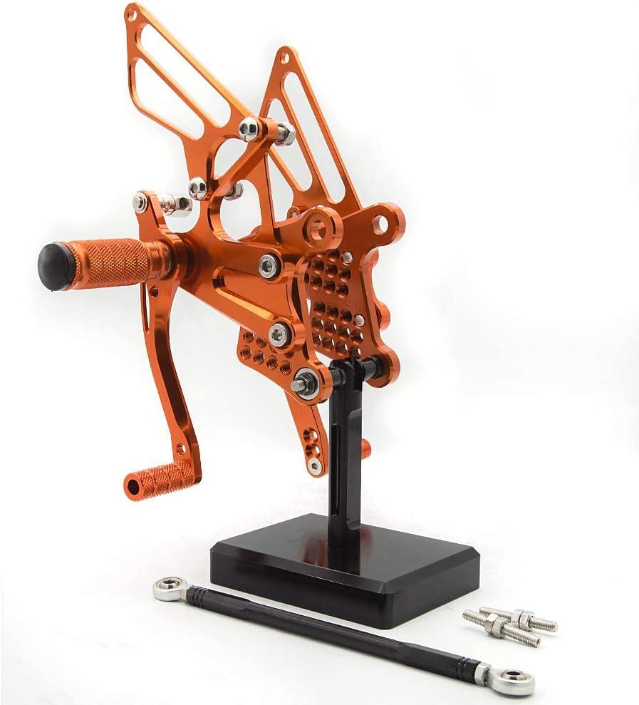 FXCNC Racing Billet Motorcycle Rearset Foot Pegs Rear Set Footrests Fully Adjustable Foot Boards Fit For Kawasaki Ninja ZX6R ZX636 ZX-6R 636 2009 2010 2011 2012 2013 2014 2015 2016 2017 2018 2019 2020