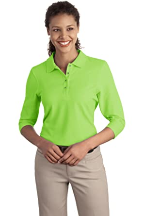 8af89e66 Port Authority Women's Silk Touch 3/4 Sleeve Polo at Amazon Women's  Clothing store: