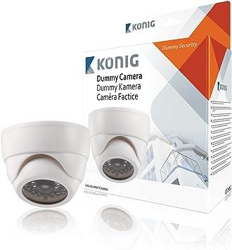 Opinión sobre König SAS-DUMMYCAM60 - Cámara CCTV domo ficticia para interiores