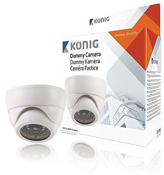 König SAS-DUMMYCAM60 - Cámara CCTV domo ficticia para interiores: Amazon.es: Bricolaje y herramientas