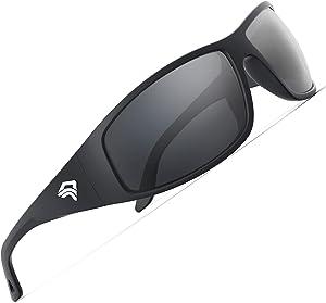TOREGE Sport Polarized Sunglasses for Men and Women Cycling Running Golf Fishing Sunglasses Saltwater Resistant Sport SunglassesTR28