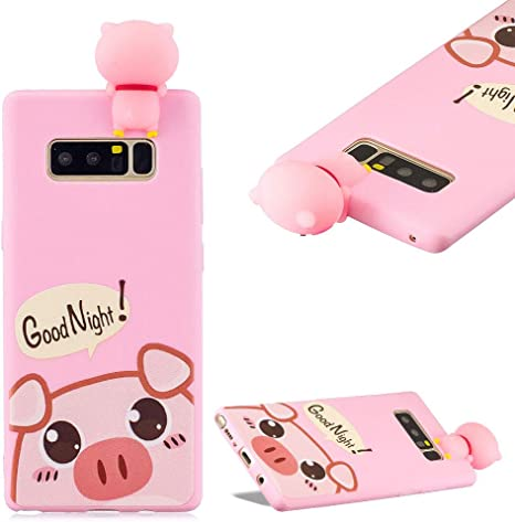 Amazon Com Cistor Cartoon Case For Galaxy Note 8 Fashion Cute Printed 3d Animals Character Doll Design Cover Anti Scratch Flexible Slim Fit Soft Tpu Silicone Protective Case For Samsung Galaxy Note 8 Cute Pig