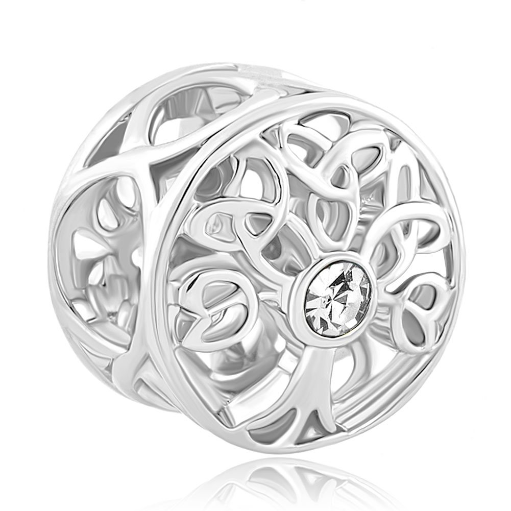 Charmed Craft 925 Sterling Silver Family Tree of Life Jan-Dec Birthstone Celtic Knot Crystal Charm Bead For Bracelets pandöra charms DPC_FASS429_X04