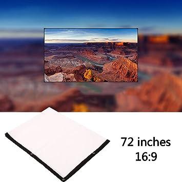 Hanbaili 16: 9 Pantalla de proyector de interior de 72