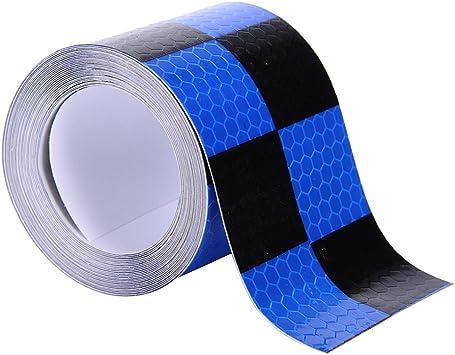 Molie 4 Farben 5cmx4m Reflektorband Sicherheitsband Warnklebeband Reflexionsfolie Reflexstreifen Selbstklebend Reflektierend Für Fahrrad Joggen Auto Pkw Lkw Black Auto