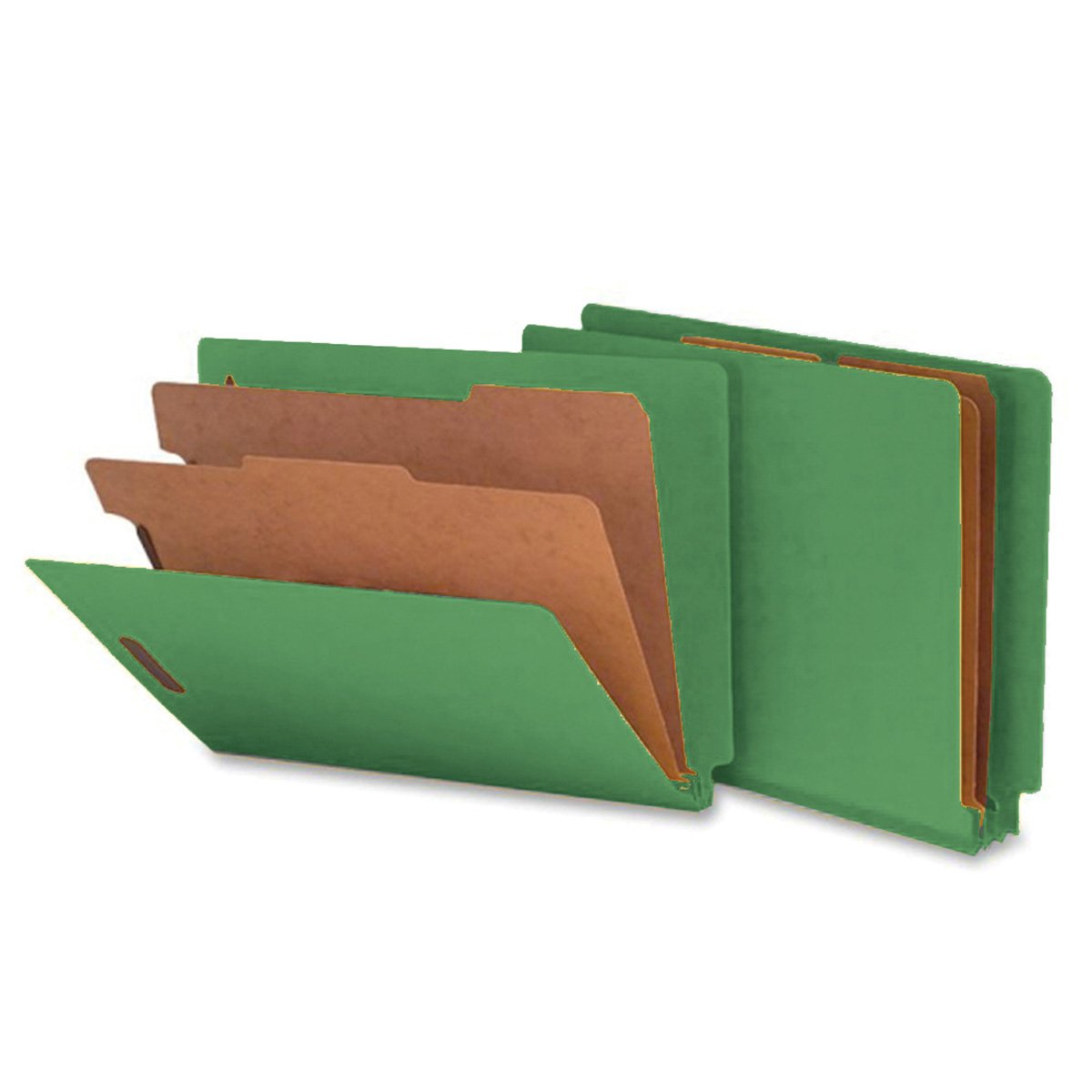 SMEAD ETC400-2D-GN5 End Tab Folder, FAS #1 and #3, 20Pt Pressboard, 2 Dividers, 2'' Expansion, 12 1/4'' x 9 1/2'', Green (Pack of 50)