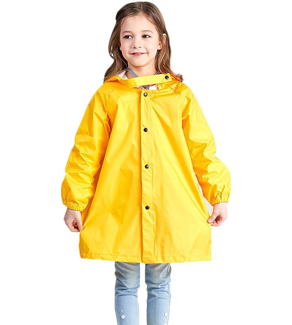 NinkyNonk Kids Raincoat Rain Jacket Portable Reusable Rain Poncho Boys Girls raincoat 002 s