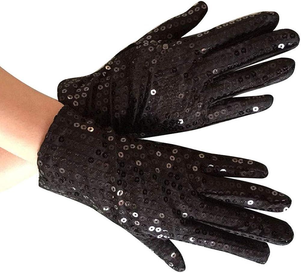 Dance Gloves Kids Children Sparkling Sequins Cosplay Costume Mittens Supplies RU