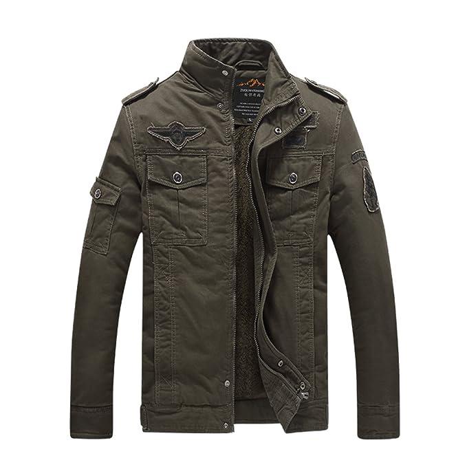 Amazon.com: H.T. niao jacket8333 Hombres S Moda Militar ...