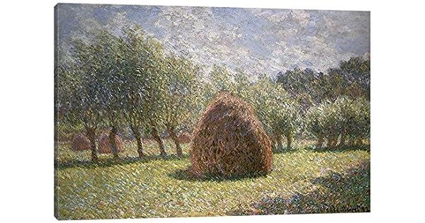iCanvasART Haystacks at Giverny 1893 Print 26 x 18
