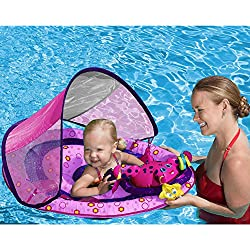 SwimWays Baby Spring Float Activity Center with Canopy in Pink by SwimWays