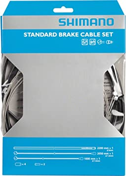 Shimano Standard Brake Cable Set with Black Housing for MTB or Road Bicycle
