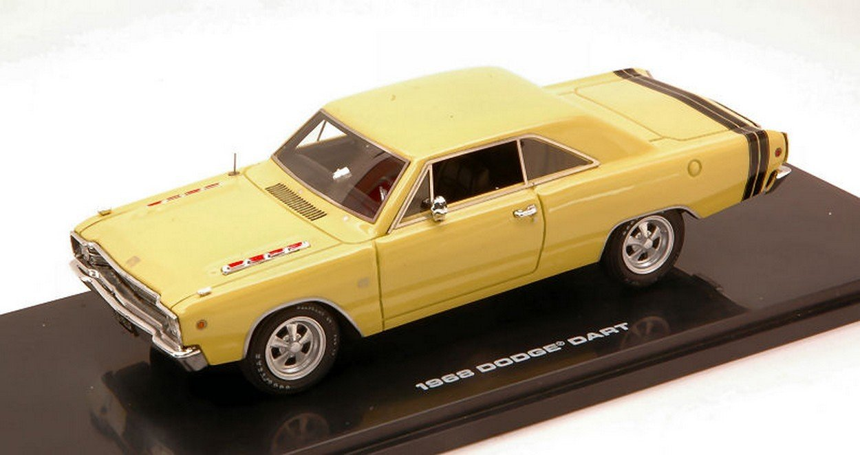 HIGHWAY 61 HGW43007 DODGE DART GTS 1968 SUNFIRE YELLOW 1:43 MODELLINO DIE CAST