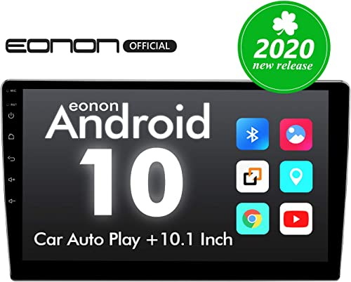 2020 Double Din Car Stereo,Android 10 Radio with Bluetooth 5.0, Eonon 10.1 Inch Car Radio Android Head Unit Car Stereo with Navigation with WiFi Fast Boot Backup Camera NO DVD CD -GA2187
