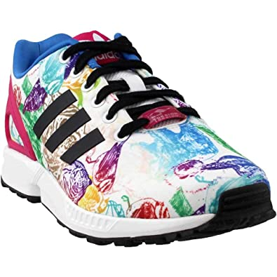 445df4643 adidas Womens ZX Flux Athletic   Sneakers White