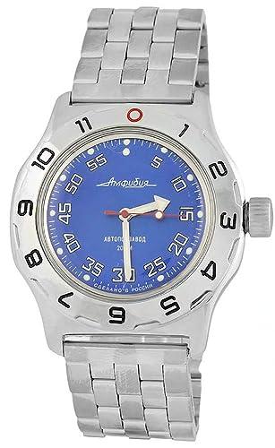 Vostok nueva de anfibios 100824 ruso automático buzos reloj de pulsera 200 M Auto azul: Amazon.es: Relojes