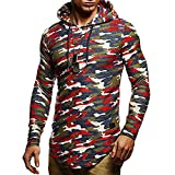 Clearance Sale for Men Tops.AIMTOPPY Men's Long Sleeve Hoodie Hooded Plaid Jacket Coat Outwear